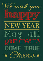 We wish you happy new year,