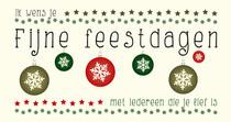 Ik wens je fijne feestdagen met iedereen die je lief is
