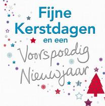 XL kaart - Fijne kerstdagen
