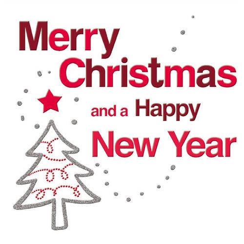 XL kaart - Merry Christmas and