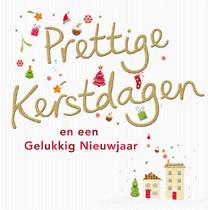 XL kaart - Prettige Kerstdagen
