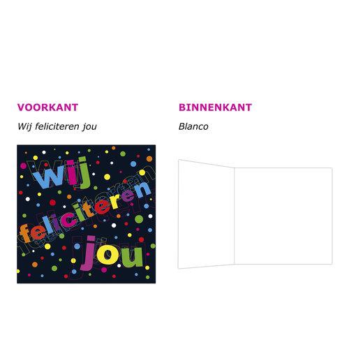 XL kaart - Wij feliciteren jou