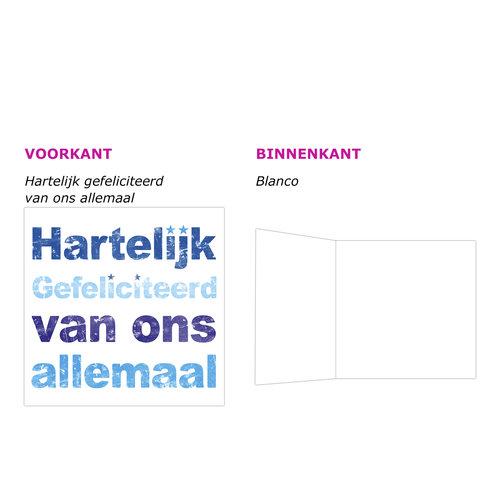 XL kaart - Hartelijk gefeliciteerd...