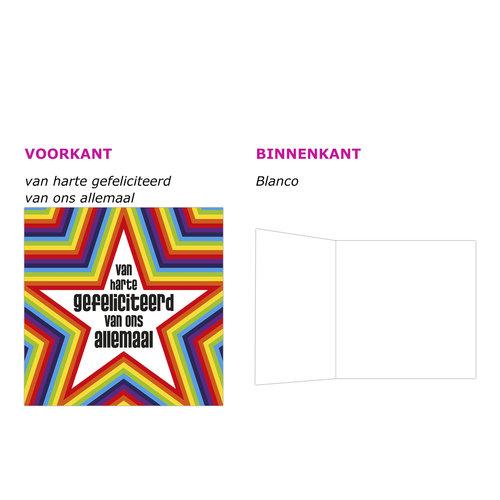 XL kaart - Van harte gefeliciteerd...