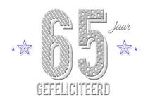 65 jaar gefeliciteerd