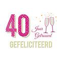 40 jaar getrouwd gefeliciteerd