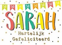 Sarah Hartelijk gefeliciteerd