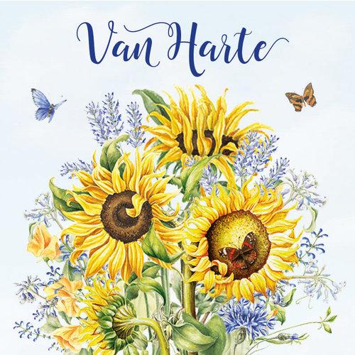 Mini kaartje - van Harte