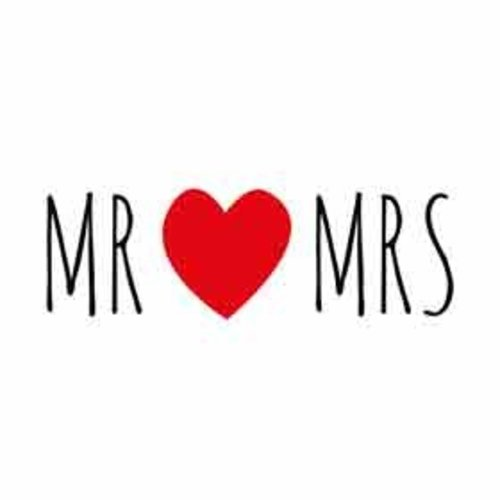 Mini kaartje - MR MRS