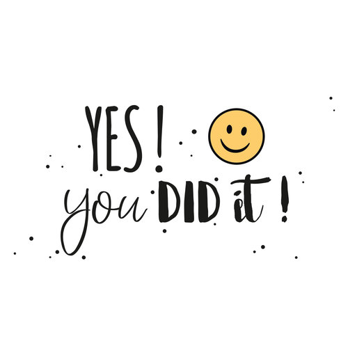 Yes! You did it