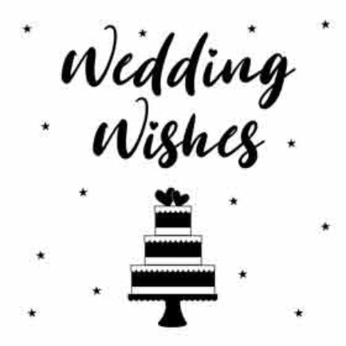 Mini kaartje - Wedding wishes