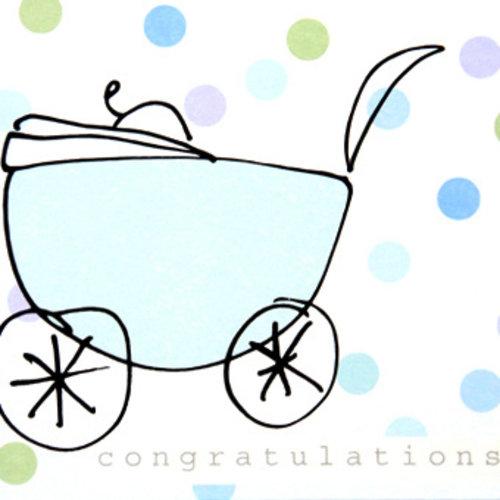 Congratulations - Blauw