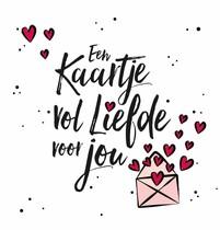Een kaartje vol liefde voor jou