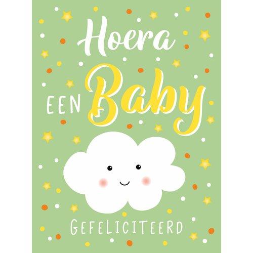 XL kaart - Hoera een baby
