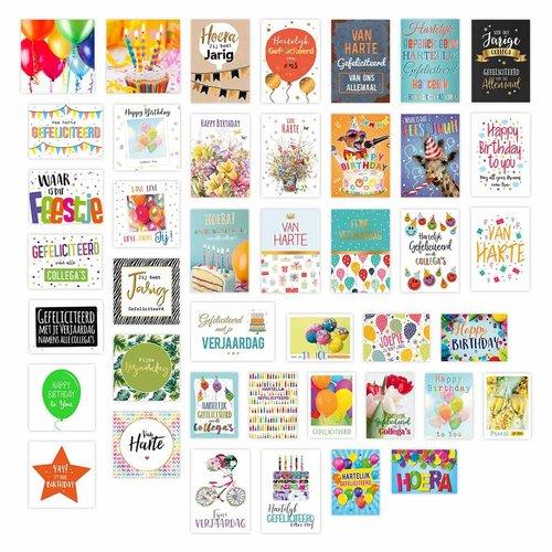 Verjaardagspakket - pakket met 42 stuks