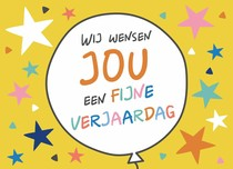Wij wensen jou een fijne verjaardag