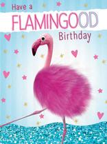 XL kaart - Have a flamingood birthday