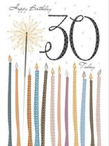 XL kaart - Happy birthday 30 today