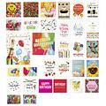Verjaardag wenskaarten - pakket met 31 stuks