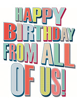 XL kaart - Happy birthday from all of us!