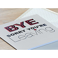 XL kaart - Bye, sorry you're leaving