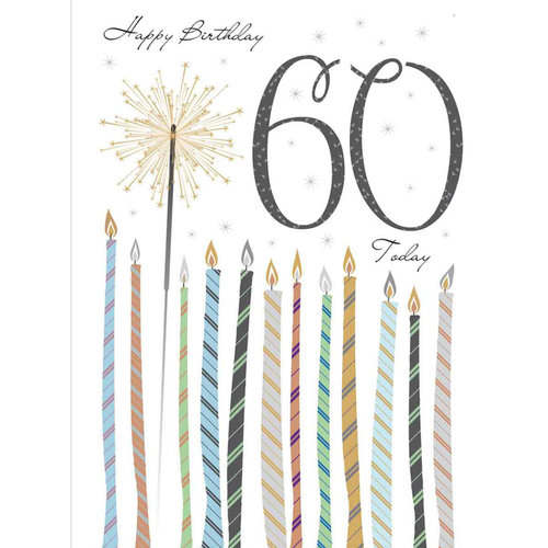 XL kaart - Happy birthday 60 today
