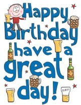 XL kaart - Happy birthday have a great day