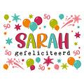 Sarah Gefeliciteerd