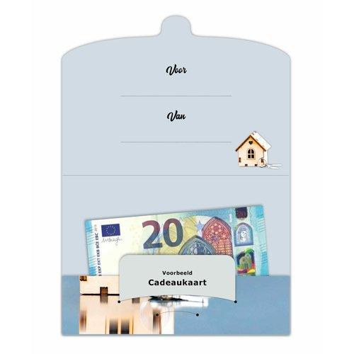 Cadeau-envelop - Veel geluk in de nieuwe woning