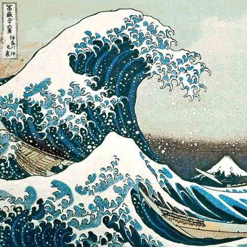 XL kaart - De grote golf van Kanagawa