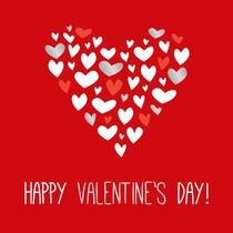 XL kaart - Happy Valentine's day!