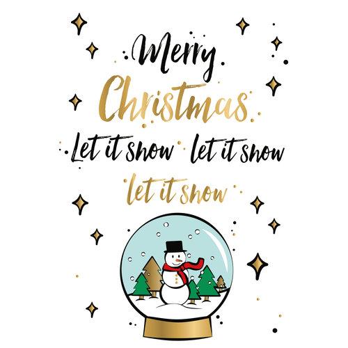 Merry Christmas let it snow, let it snow, let it snow