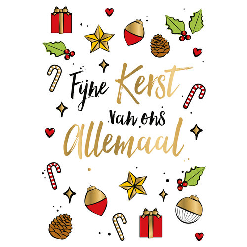 Fijne kerst van ons allemaal