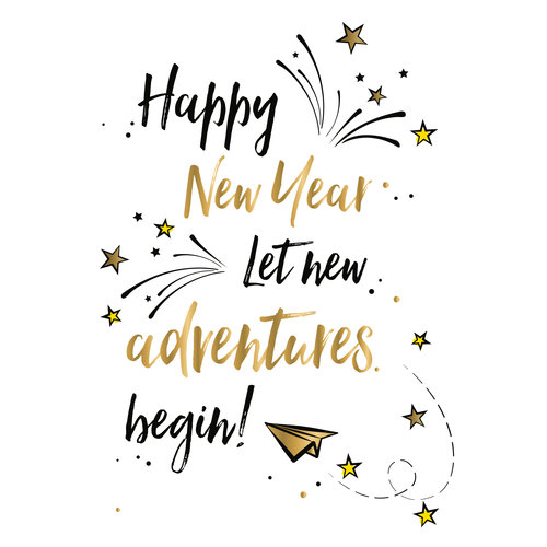 Happy new year let new adventures begin