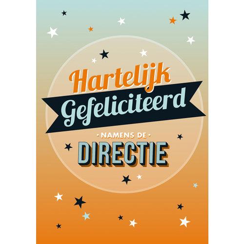 Hartelijk gefeliciteerd namens de Directie