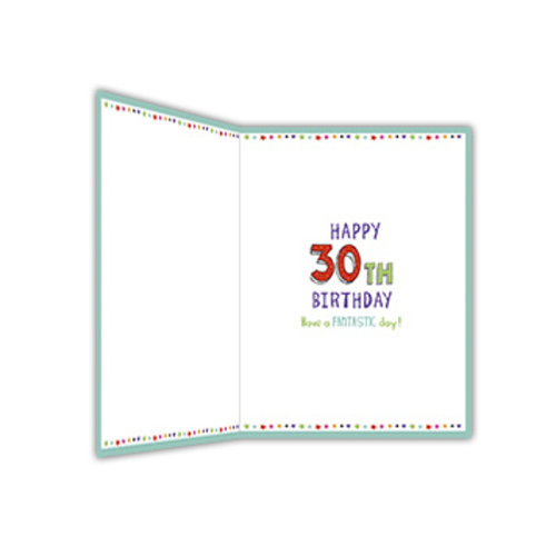 XL kaart - 30 today