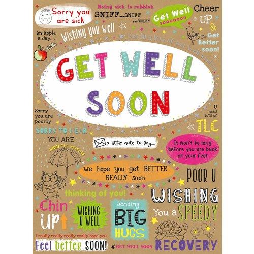 XL kaart - Get well soon