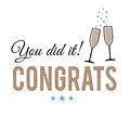 You did it Congrats
