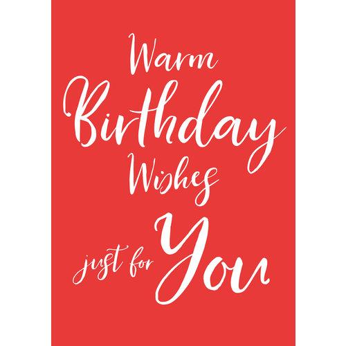 Warm birthday wishes