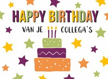 Happy birthday van je collega's