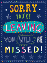 XL kaart - Sorry you're leaving you will be missed!