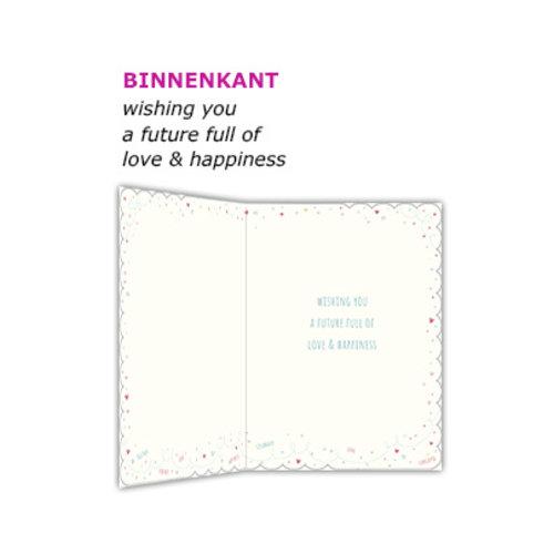 XL kaart - Congratulations on your wedding day