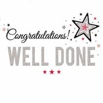 XL kaart - Congratulations well done