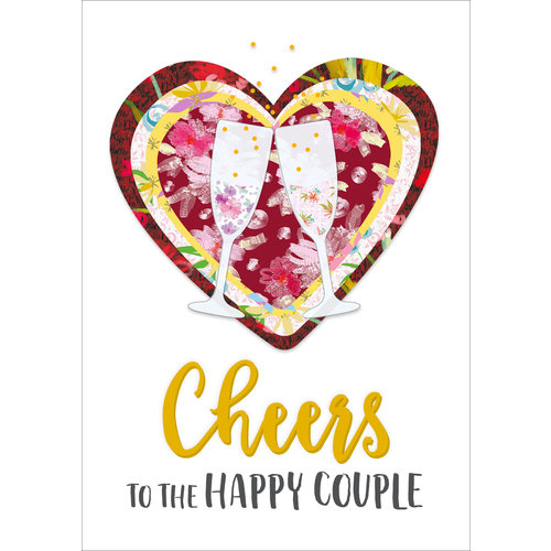 Cheers to the happy couple