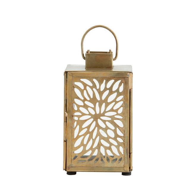 Gouden lantaarn met blad patroon  - M