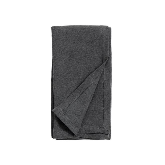 Luxe katoen/linnen servetten | antraciet