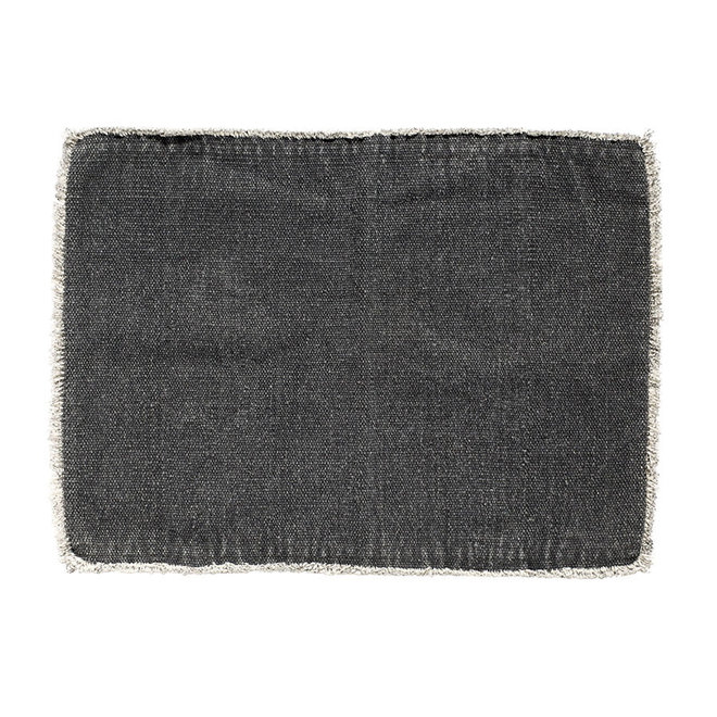 Placemat stonewashed - antraciet