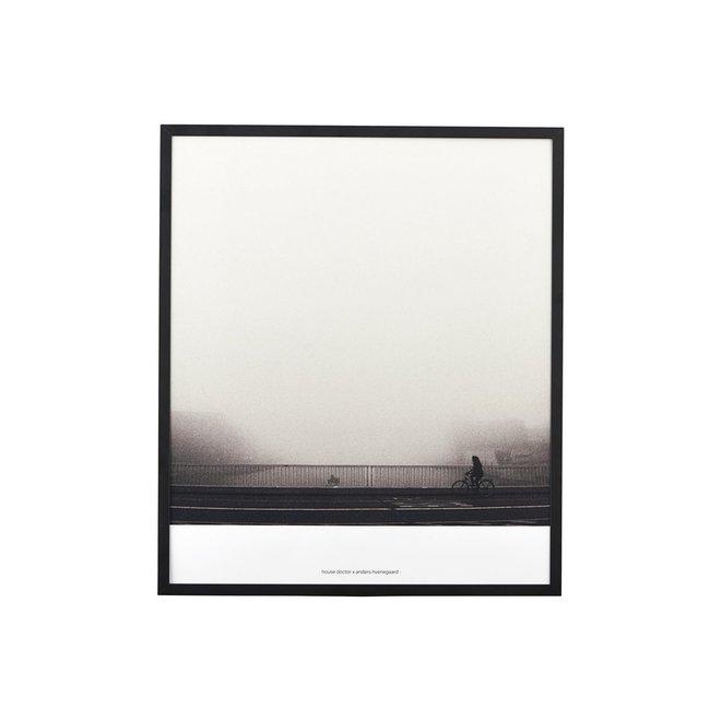Poster Places met lijst zwart - 32x37cm