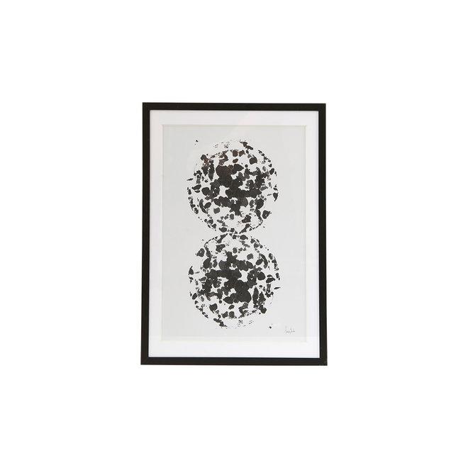 Poster Fika met zwarte lijst - 30,5x21,8cm