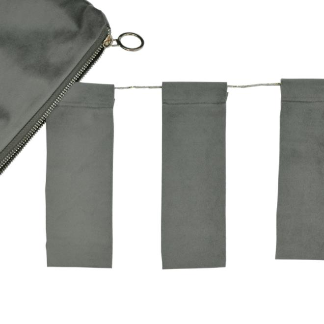 Slinger velvet olijfgroen - 4m